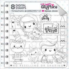 Back To School Stamp 80OFF COMMERCIAL USE Digi Digital