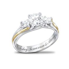 Engraved Topaz Ring: I Am Yours