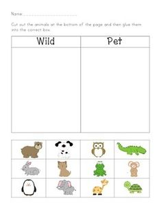 wild animals and domestic animals worksheets evs worksheets printable activity sheets ideas. Black Bedroom Furniture Sets. Home Design Ideas