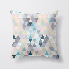 Geometric Cushion by madeandmarked on Etsy