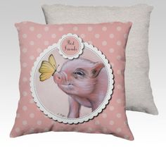 Mini pig cushion cover made to order  micro pig by MimoCadeaux, $49.00