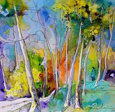 Vieux-Boucau 05. Artist:Miki De Goodaboom. Medium:Painting - Watercolour And Ink