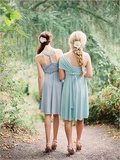 how to tie a twist wrap dress http://www.weddingchicks.com/2013/10/11/convertible-dress/