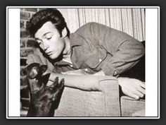Clint Eastwood's Dachshund. The dog is no doubt cute, but look at how handsome Clint was back in the day!