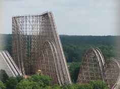 El Toro at Six Flags in New Jersey: it has the tallest wooden roller coaster drop in the world.