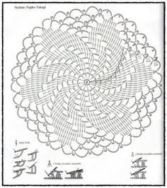 Filet Crochet Doily Diagram, Filet, Free Engine Image For .This Photo was uploaded by senhora_rocha.Ingrid Marcia uploaded this image to 'Croche See the album on Photobucket.The website is russian but it's much easier to just read the pattern on a co Motif Mandala Crochet, Free Crochet Doily Patterns, Crochet Doily Diagram, Crochet Circles, Crochet Chart, Crochet Squares, Crochet Designs, Crochet Doilies, Tatting Patterns