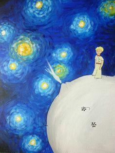 #ElPrincipito #Vincent #Noche #Estrellada #B612 #Asteroide