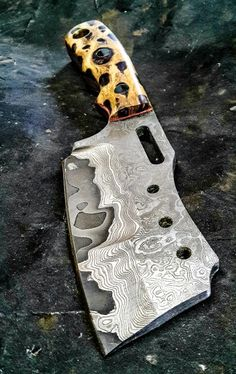 Half Life Knives Battle Cleaver made from stainless clad 1095, with chollo cactus furniture...