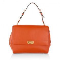 Moschino Tasche – Leather Shoulder Bag Orange – in orange – Henkeltasche für Damen