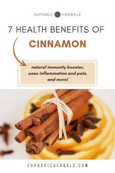 Cinnamon has several health benefits when used as a medicinal plant / herb, including natural immunity, pain and inflammation relief, and more. It can be used as a natural remedy in many ways and is a powerful natural immunity booster, pain reliever, is anti-aging, among many other benefits. You can use it in herbal teas, as an essential oil, and more. Read this post from Euphoric Herbals to discover the health benefits and uses of Cinnamon when used as an herb / plant for health!