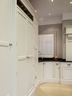 Bespoke kitchen Cheshire  Cabinet Makers Luxury Quality Hand made AGA oven mantel cup handles little green co. limestone granite larder bi-folding cabinet