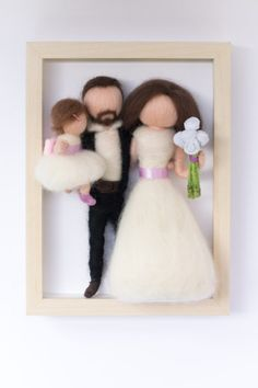 Family portraits in frame Modern Decoration modern dining room wall decor Dining Room Wall Decor, Decor Room, Home Decor, Modern Wall Decor, Family Portraits, Needle Felting, Wool Felt, Wedding Gifts, Frame