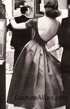 Couture Allure Vintage Fashion: What to Wear Under a Low Back Dress - 1957