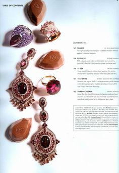 Elite Traveler Magazine - 11-12/2012 - BRUMANI ring from 'Baobab Rosé' collection in rose gold with round diamonds, rose quartz and pink tourmaline.