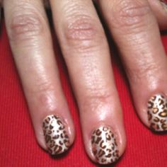 Dashing Diva Nail Coverings with clear gel overlay. Done by Jill Judd at Hot Heads