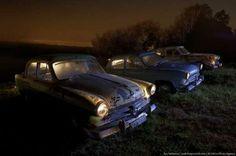 creepy cars | Scary Old Cars on a Spooky Scrapyard | Warm Photos