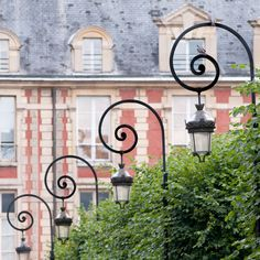 Items similar to Paris Photo - Place des Vosges, Paris, France - Lamp Posts with Birds, Architectural French Fine Art Travel Photograph, Wall Decor on Etsy