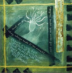 Your World (painting, calligraphy, faux gilding, patinas, 10x10) by Holly Dean. #quotes #mixedmedialove