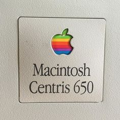 Love the old #apple logo. #macintosh #mac #centris #PowerPC #classic #vintage #potkukelkkacom #fb
