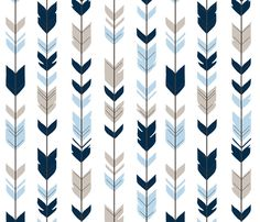 Arrow Feathers -- Baby Blue/Beige/navy on white - CottonWood-ch custom fabric by sugarpinedesign for sale on Spoonflower Baby Blue Wallpaper, White Wallpaper For Iphone, Beige Wallpaper, Iphone Homescreen Wallpaper, Boys Wallpaper, Aztec Pattern Wallpaper, Baby Blue Background, Arrow Feather, Backgrounds