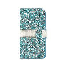 Diamond Designer Blue Case #iPhoneCase #Glitter #Wallet #Case #Folio #Classy