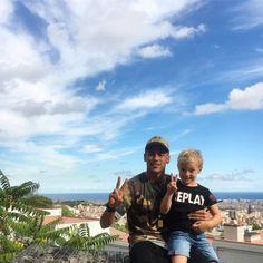 Neymar y su hijo Lucca