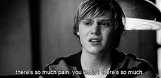 • tate langdon american horror story Evan Peters Black and White depressed depression sad pain broken boy Ash ahs: murder house feelalittlemagic •