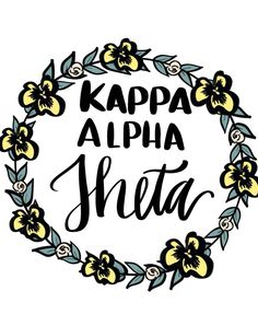 Kappa Alpha Theta wreath by ShenaniDesigns on Etsy