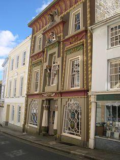 Egyptian House, Penzance, Cornwall, England.