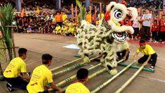 Sabah Style Lion Dance (Bamboo Dance and Sumazau)