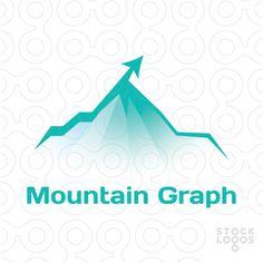 Mountain peak graph arrow