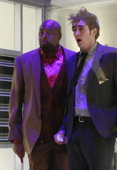 Lee Pace and Chi McBride in Pushing Daises.