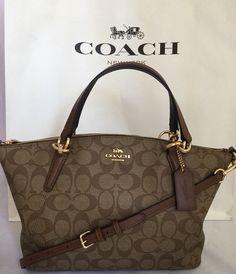 NEW Coach F58290 Crossgrain Leather Mini Christie Carryall- Brown Black    Women s fashion (1)   Pinterest d63e0f3e35