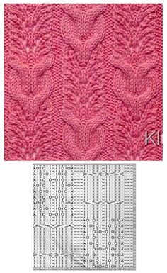 Cable Knit pattern Lace Knitting Stitches, Cable Knitting Patterns, Knitting Charts, Knit Patterns, Hand Knitting, Stitch Patterns, Couture, Knitting Tutorials, Knitting Patterns