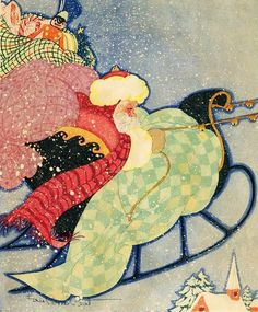 The Night Before Christmas Illustration by Fern Bisel Peat c.1931