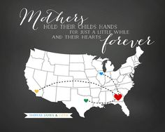 Custom Gift for Brothers and Sisters - Art Map, Your Photo in a Heart on a Map - Personalized Art, Long Distance Family, Map for Mom Special Gifts For Mom, Gifts For Brother, Gifts For Husband, 65th Birthday, Birthday Ideas, Appropriation Art, Veggie Art, Heart Map, Sisters Art