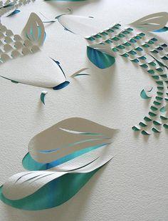 Cortes e cores do papel em branco