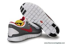 eaded9a41439b White Grey Red Nike Free Run Mens 395912-026 Sale Running Shoes Nike