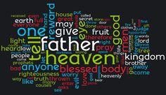 Wordle Diagram of all Jesus teachings.