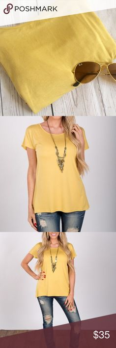 "•Tunic• Yellow short sleeve tunic• slight dolman style• worn/washed once•a dip of darling is the brand•loose, flowy fit•bust:23""•length:25""•95% viscose• 5% spandex• smoke free• dog friendly home Boutique Tops Tees - Short Sleeve"