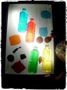 table lumineuse couleurs