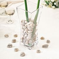 Guest Signing Stones in Glass Vase