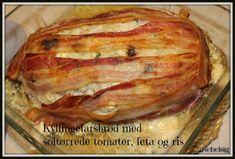 Kyllingefarsbrød med soltørrede tomater, feta og ris Feta, Pork, Lunch, Main Courses, Dinner, Kale Stir Fry, Main Course Dishes, Dining, Entrees