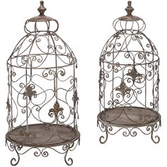 i love these. though i do not like anything cages it would be great for putting candles and a little plant things of that sort.
