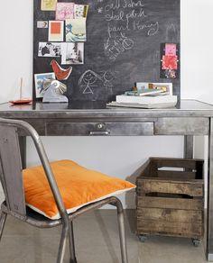image of vintage French steel desk