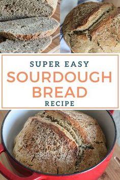 Super easy dutch oven sourdough bread recipe!
