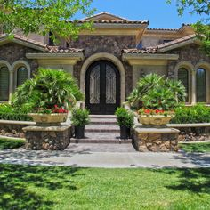 """THE DIFFERENCE IS IN THE DETAILS!  A Front Entry Way with Molding and trim from Realm of Design really make a house """"pop."""""""