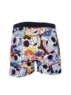 1f53472e2de6e sugar skull swim shorts bathing suit