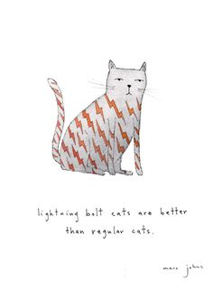 Marc Johns: lightning bolt cats are better