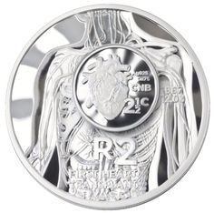 South Africa 2017 Heart Transplant Silver Crown and Tickey Coins Combined Silver Coins, 50th Anniversary, South Africa, Mint, African, Crown, Heart, Silver Quarters, Corona